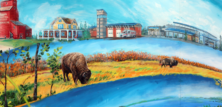 Beaver Hills Strathcona County Museum Mural
